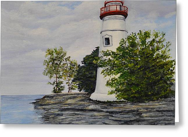 Marblehead Light House On Lake Erie Greeting Card