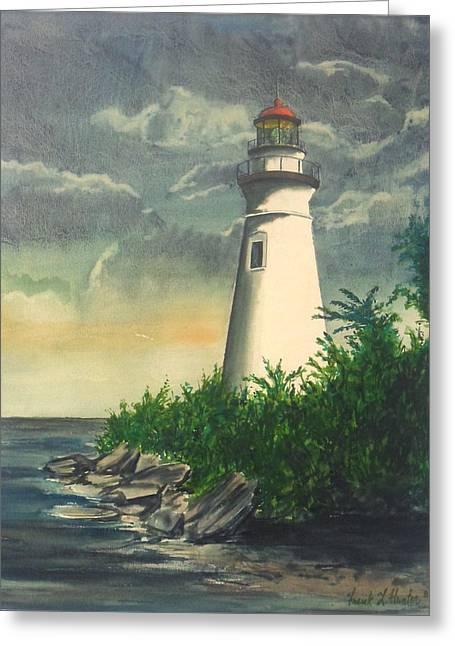 Marblehead Light On Lake Erie Greeting Card