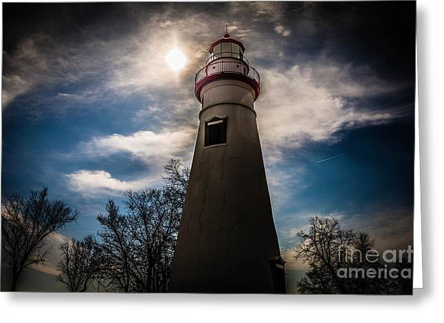Marblehead Lighthouse Greeting Card by Lori England Zornes