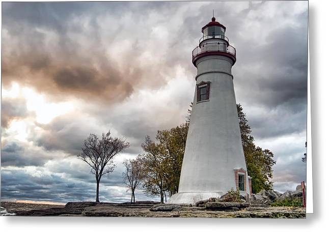 Marblehead Lighthouse Greeting Card by Mary Timman