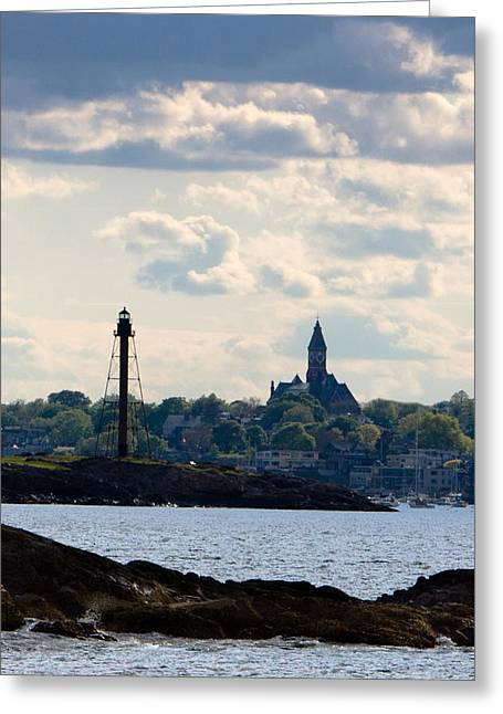 Marblehead Points Greeting Card by Jeff Folger