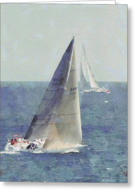 Marblehead To Halifax Ocean Race Greeting Card by Jeff Folger