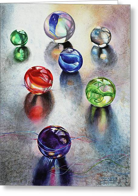 Marbles 1 Greeting Card