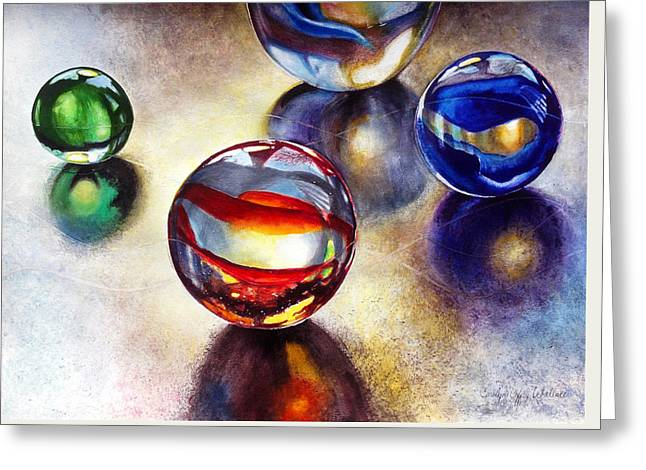 Marbles 2 Greeting Card