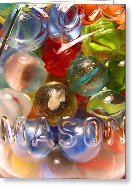 Marbles And Mason 6 Greeting Card