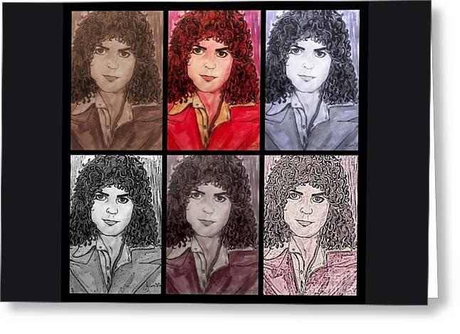 Marc Bolan Glam Rocker Collage Greeting Card