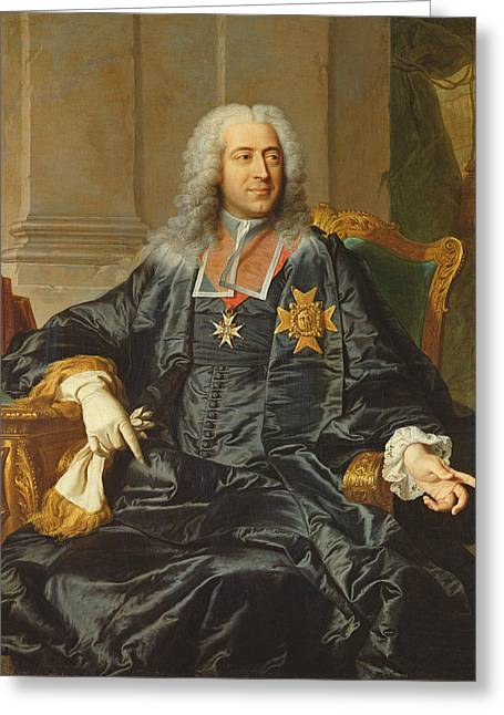 Marc-pierre De Voyer-de-paulmy 1696-1764 Count Of Argenson Oil On Canvas Greeting Card by Hyacinthe Rigaud