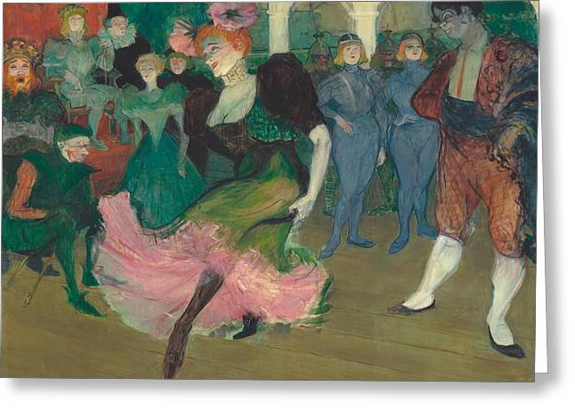 Marcelle Lender Dancing The Bolero In Chilperic Greeting Card by Toulouse-Lautrec