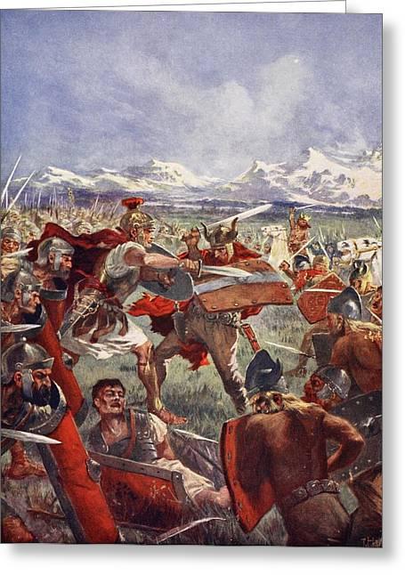 Marcellus Duel With Virdumarus Greeting Card by John Harris Valda