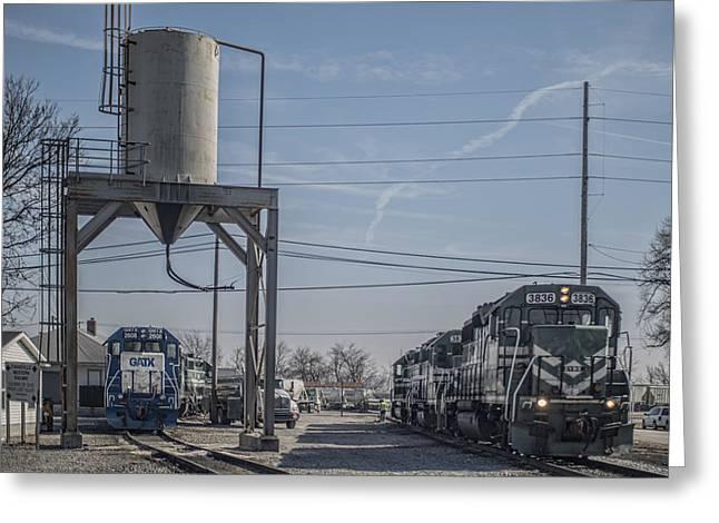 March 11. 2015 - Evansville Western Railway Engine 3836 Greeting Card