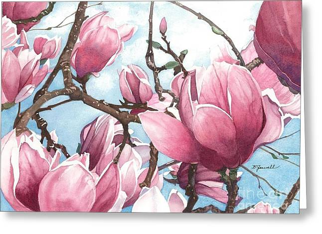 Greeting Card featuring the painting March Magnolia by Barbara Jewell