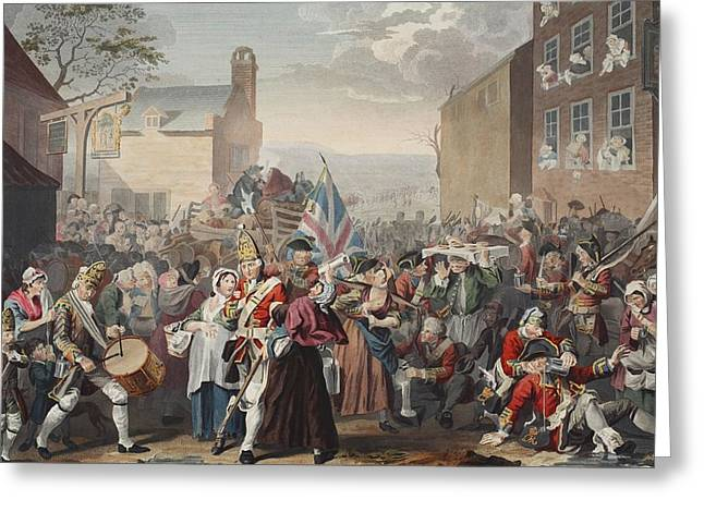 March Of The Guards To Finchley Greeting Card by William Hogarth