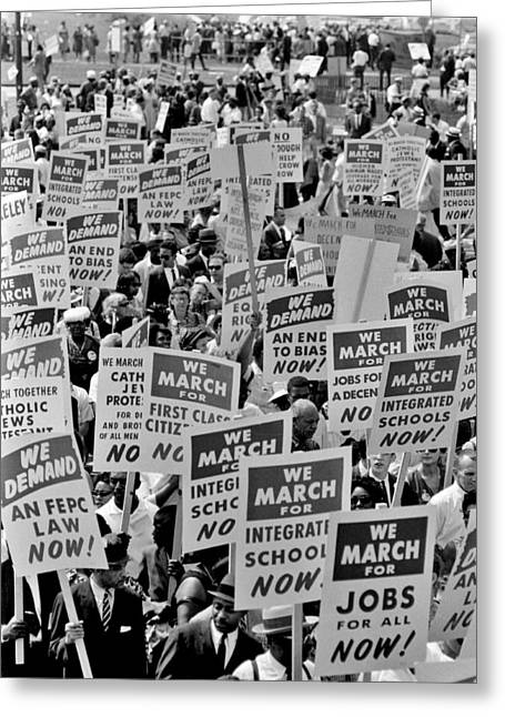 March On Washington Greeting Card