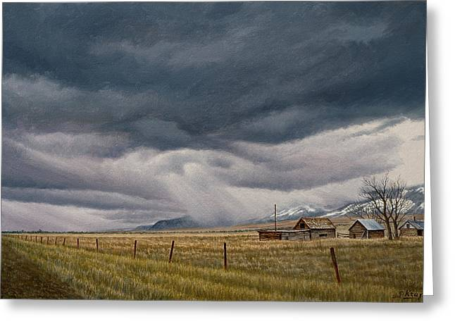 March Sky-montana Greeting Card by Paul Krapf