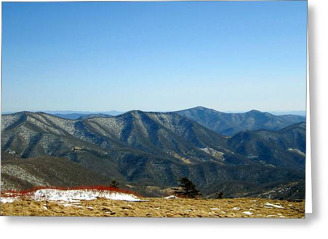 March Snow In The Mountains Greeting Card