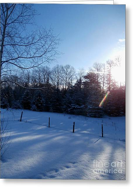 March Sunrise Greeting Card by Steven Valkenberg