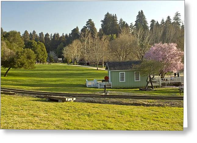 March Sunset Roaring Camp Greeting Card by Larry Darnell