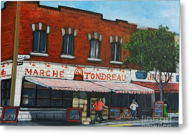 Marche Tondreau Verdun Greeting Card by Reb Frost