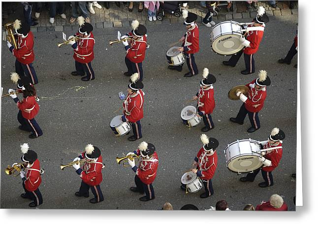 Marching Band Greeting Card by Matthias Hauser