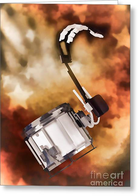Marching Band Snare Drum Painting In Color 3330.02 Greeting Card by M K  Miller
