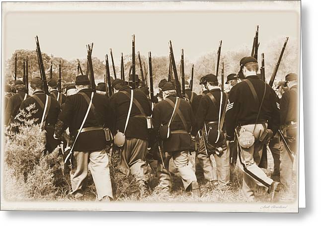 Greeting Card featuring the photograph Marching Into Battle by Judi Quelland