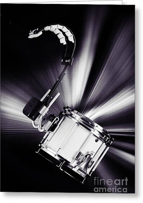 Marching Snare Drum Music Photograph In Sepia 3327.01 Greeting Card by M K  Miller
