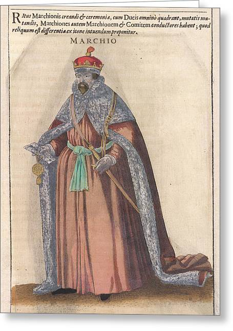 Marchio Greeting Card by British Library