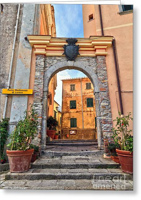 Marciana - Ancient Gate Greeting Card by Antonio Scarpi