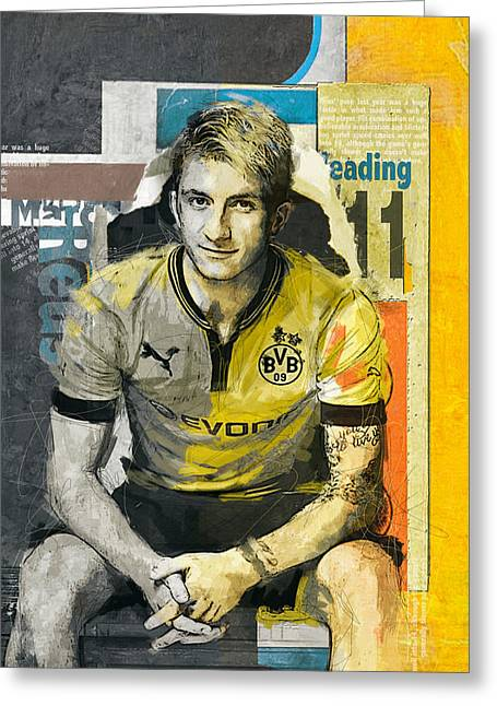 Marco Reus - B Greeting Card by Corporate Art Task Force
