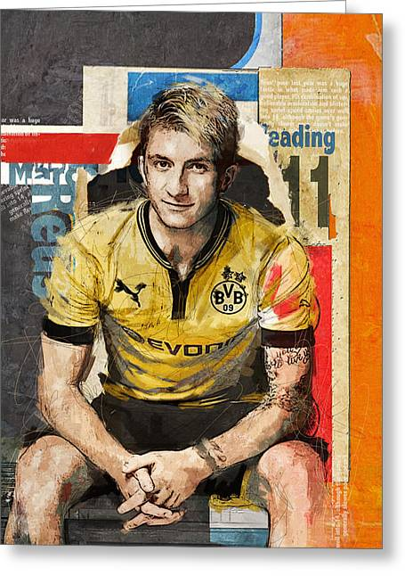 Marco Reus Greeting Card by Corporate Art Task Force