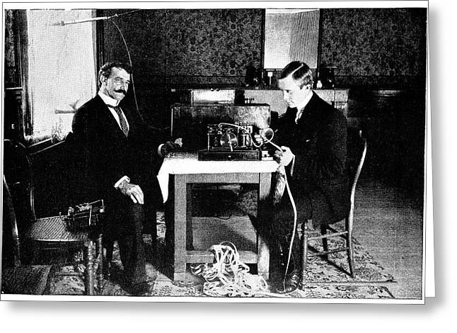 Marconi And Radio At South Foreland Greeting Card