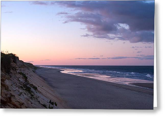 Marconi Beach At Dusk Greeting Card