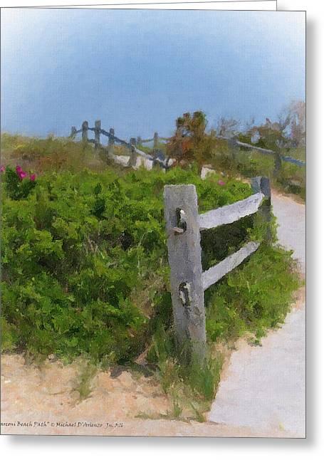 Marconi Beach Path Greeting Card by Michael DArienzo