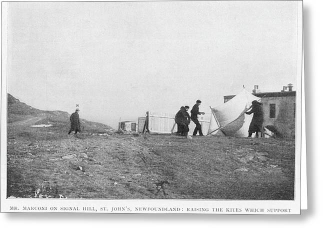 Marconi Raises Kites To  Support An Greeting Card