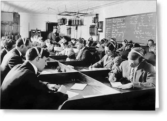 Marconi Wireless School Greeting Card by Underwood Archives