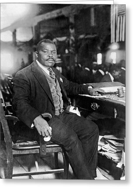 Marcus Garvey At His Desk Greeting Card