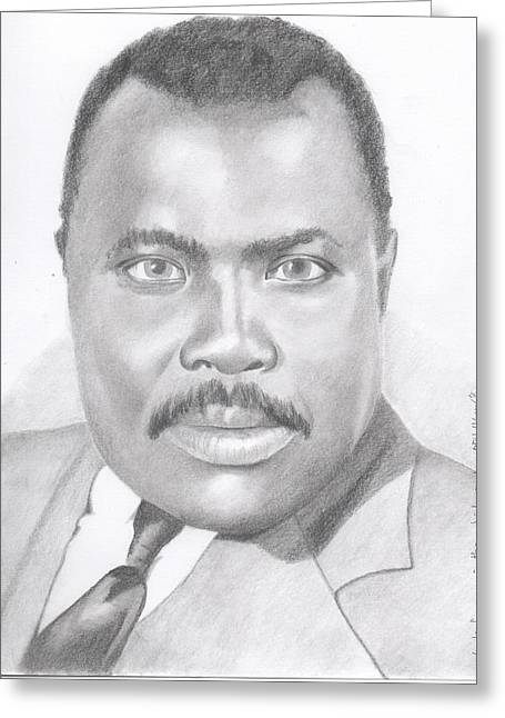 Marcus Garvey - Look For Me In The Whirlwind Greeting Card by Michel Kress