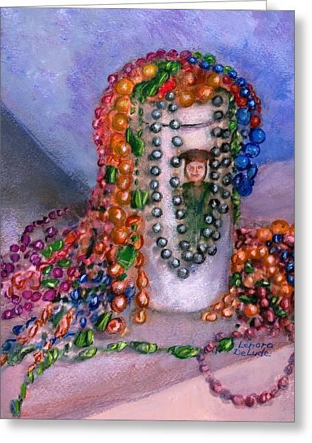 Mardi Gras Beads In Louisiana Greeting Card