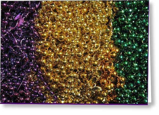 Mardi Gras Beads - New Orleans La Greeting Card