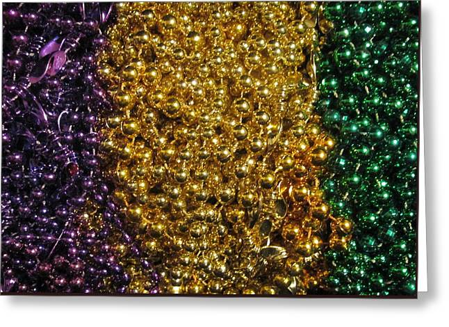 Mardi Gras Beads - New Orleans La Greeting Card