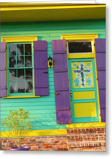 Mardi Gras House Greeting Card