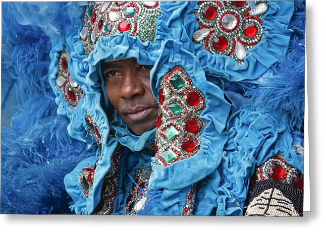 Mardi Gras Indian Greeting Card