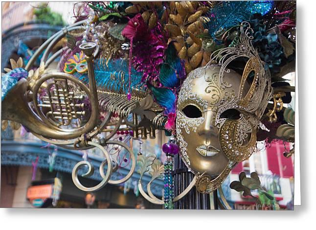 Mardi Gras Mask Greeting Card by Heidi Smith