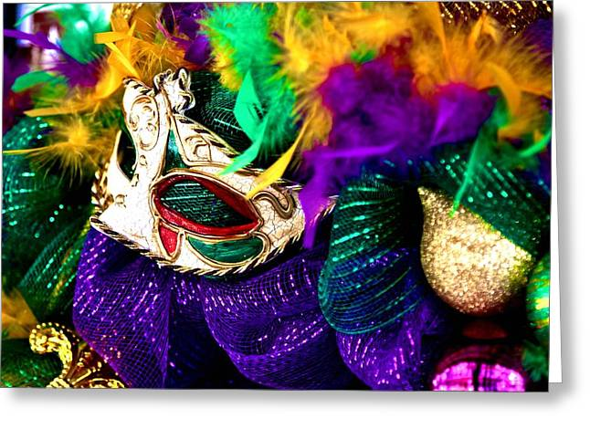 Mardi Gras Mask Greeting Card