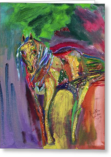 Mardigras Horse Greeting Card