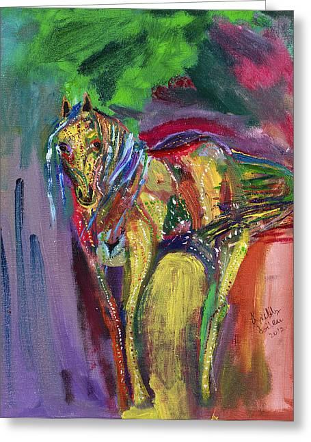 Mardigras Horse Greeting Card by Swabby Soileau