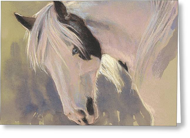 Mare With A Halo Greeting Card by Tracie Thompson