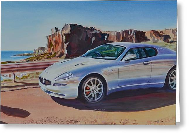 Maserati In Erice Greeting Card by Marco Ippaso