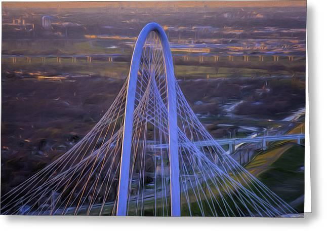 Margaret Hunt Hill Bridge Central Arch Greeting Card
