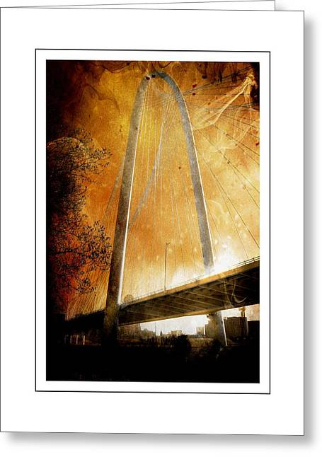 Margaret Hunt Hill Bridge Dallas Texas Greeting Card